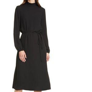 BNWT Theory Mock Neck Midi Dress - Size 4